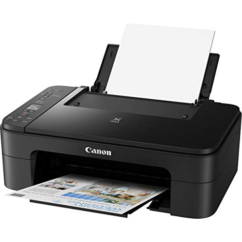 """Canon PIXMA TS 33xx Series Wireless All-In-One Color Inkjet Printer - Black - 3-in-1 Print, Scan, Copy for Home Office - 4800x1200 dpi, 1.5"""" LCD Screen, Voice-Activated - ORPHYER 10 Feet Printer Cable"""