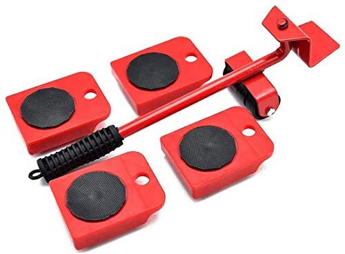 Rullo di trasporto per mobili, Set da 5 pezzi Sollevatore di mobili con cursori Spostamento di mobili pesanti Utensili di trasloco ,Attrezzo di sollevamento di oggetti pesanti e scorrevolezza
