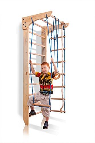 Kletterwand Sprossenwand Fitness ˝Kinder-2-220˝ Turnwand Sportgerät Klettergerüst Holz