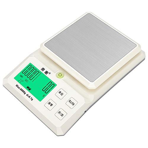 LYC Digitale keukenweegschaal precisie 0,1 G elektronische weegschaal bakken eten wegen platform weegschaal met temperatuur weergave Countdown eigenschappen