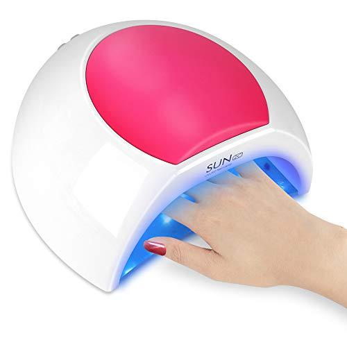 LBLA UV LED Nail Lamp,48W Gel Nail Dryer,UV Light for Gel Nails,LED Nail Polish Curing Lamp with 4 Timer Setting,Professional Nail Art Tools with Automatic Sensor