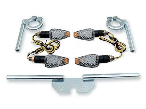 12V LED Mini Tuning Blinker hell im Satz + Blinkerträger für Simson S50 S51 S70