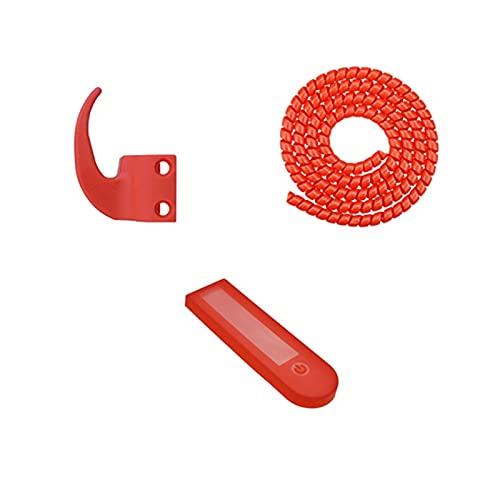 AIMINDENG 1 juego de ganchos y cubierta de nailon para salpicadero, scooter mini percha para Ninebot MAX G30 accesorios de scooter eléctrico (color rojo)