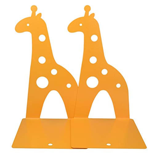 Marrywindix Yellow Cute Giraff Nonskid Bookends Bookend Art Gift