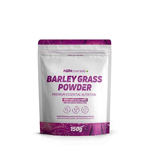 Erba d'Orzo in Polvere di HSN | Barley Grass | Ricco di Fitonutrienti, Vitamine, Minerali, Antiossidanti, Aminoacidi | Proteine Vegetali | Gusto Naturale - 150g