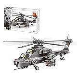 Oeasy Technic Plane WZ10 - Set di costruzione per elicotteri da combattimento, 283 pezzi, kit di costruzione per aerei militari
