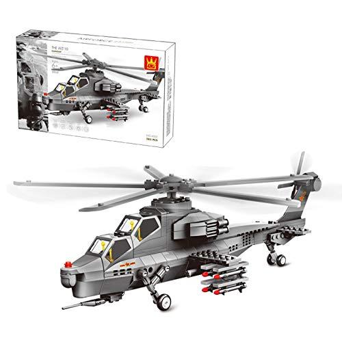 Oeasy Technik Flugzeug Bausteine Spielzeug, 283Pcs WZ10 Hubschrauber Militär Modell Kits, Konstruktionsspielzeug Kompatibel mit Lego