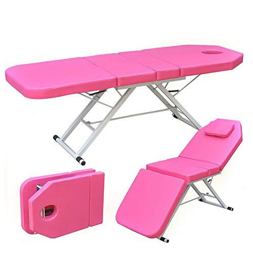 PVC Klappmassagebett Spa Salon Schönheitsbett Massagebett Massagestuhl Kosmetikliegen Pink