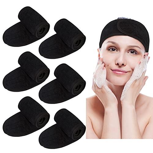 6 Pcs Kosmetik Stirnband Haarband Frottee Damen Verstellbare Haarband Stirnband für Make Up Spa Stirnband Frottee für Sport Yoga Washen