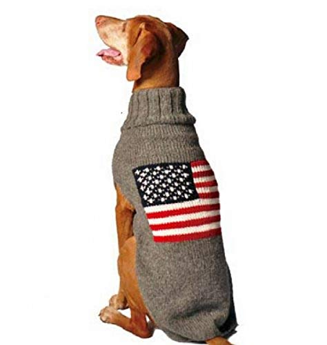 Chilly Dog American Flag Dog Sweater, 3XX-Large