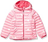 Amazon Essentials Hooded Puffer Jacket Chaqueta, Multicolor (Pink Heart), Medium (Talla del fabricante:):)