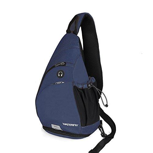 Waterfly Zaino Monospalla Portatile Sportivo Sling Bag Zaino Spalla per Uomo Donna (Blu)