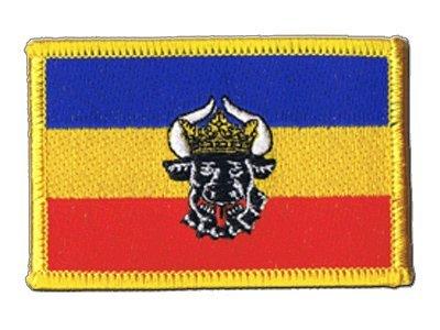 Flaggenfritze Flaggen Aufnäher Deutschland Mecklenburg alt Fahne Patch + gratis Aufkleber
