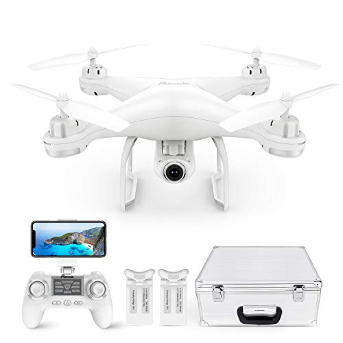 Potensic Drone con Telecamera Drone GPS Professionale T25 FPV HD 1080P 120 ° Grandangolo Regolabile Dual GPS Seguimi RTH con Due Batterie, Telecomando, Valigetta da Trasporto