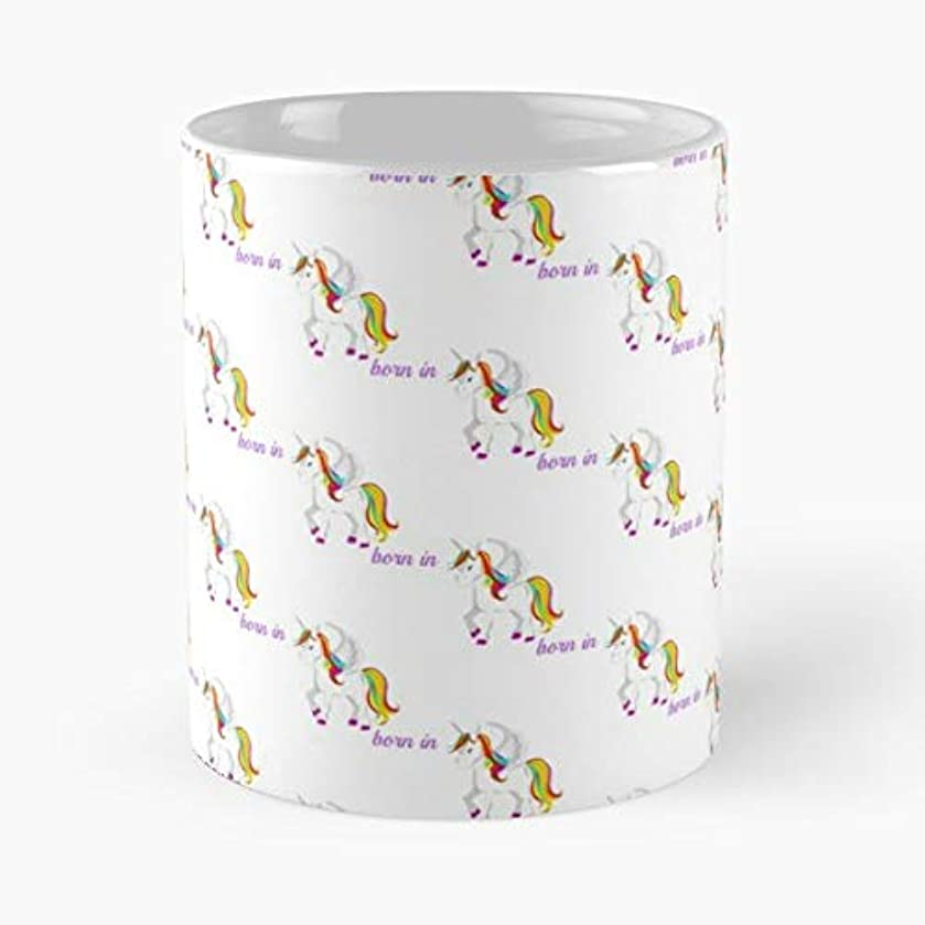 Baby Girl Gift Black And White Unicorn Birthday - Coffee Mugs Unique Ceramic Novelty Cup For Holiday Days 11 Oz.