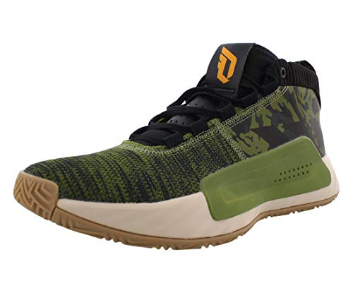 adidas Dame 5 Shoe - Men's Basketball Tech Olive/Core Black/Active Gold