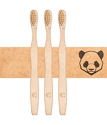 bambusliebe 3x Bambus-Zahnbürste mit harten Borsten aus Bambus-Viskose - Nachhaltig, umweltbewusst, antibakteriell, vegan, abbaubar - Für Erwachsene - Zero Waste