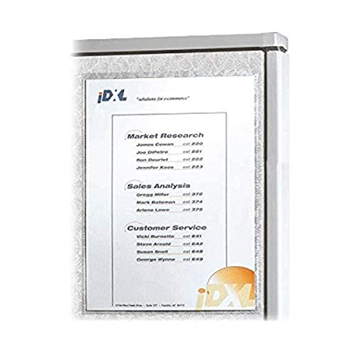 C-Line Cubicle Keepers, Velcro-Backed Display Holders, 8.5 x 11 Inches, Clear, 2 per Pack (38911)