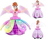 DDD1234 Dancing Princess Robot, Dancing Angel Muñeca móvil multifunción con música y Luces Robot electrónico LED de Bailarina giratoria con ala para Regalos de niñas