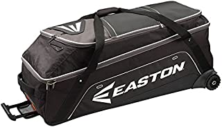 EASTON E900G Bat & Equipment Wheeled Bag | Baseball Softball | 2020 | Black | 15-20 Bat Compartment | Vented and Expandable Main Compartment | Telescope Handle | 1 Felt Lined & 2 Valuables Pockets