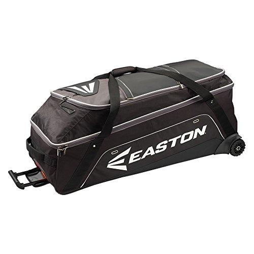 EASTON E900G Bat & Equipment Wheeled Bag | Baseball Softball | 2020 | Black | 15-20 Bat Compartment | Vented and Expandable Main Compartment | Telescope Handle | 1 Felt Lined & 2 Valuables Pockets