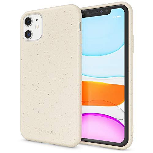 NALIA Bio Hülle kompatibel mit iPhone 11 Handyhülle, Nachhaltiges & Biologisch abbaubares Case Fair Eco Cover, Dünne Ökologische Schutzhülle, Weicher Veganer Premium Phone Bumper, Farbe:Weiß