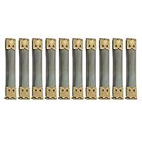 バネ口 ばね口 バネ口金金具 ポーチ作り 鉄製 幅1.4cm 長8-12cm 10個 全12種 - 8.5x1.4 cm, 青銅色