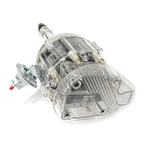 Assault Racing Products 1035004 Small Block Chevy Large Clear Cap HEI Distributor SBC 65k Ready To Run