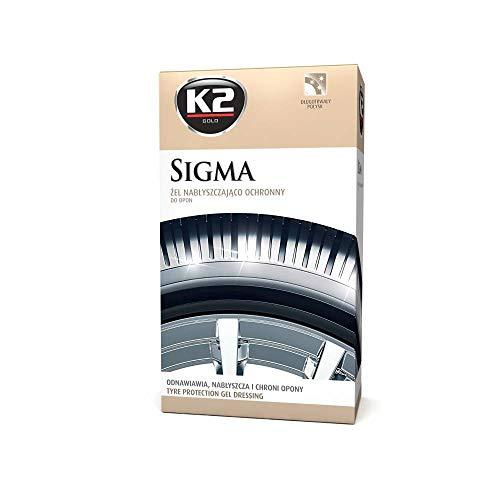 K2 Gold Premium Gel Sigma pour pneus Noir Longue durée 500 ML