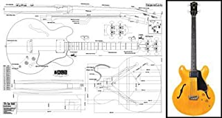 Plan of Gibson EB-2 335-Style Hollowbody Bass - Full Scale Print