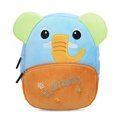 Nette Kleine Kleinkind Kinder Rucksack Plüsch Tier Cartoon Mini Kinder Tasche für Baby Mädchen Junge Alter 1-3 Jahre - Blauer Elefant