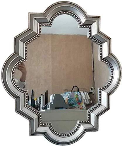 WSJMakeup Miroir de Maquillage rétro européen à Suspendre Style Vintage Doré Taille S, Argenté, Big
