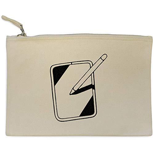 'Computer Tablet' Canvas Clutch Bag / Accessory Case (CL00006753)