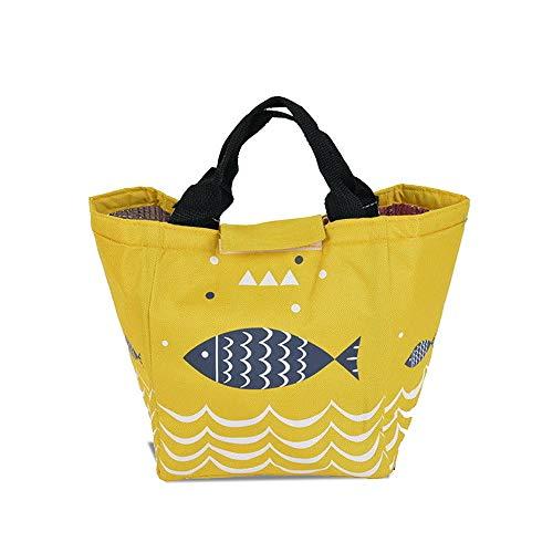 Epyz Tote Thermal Bag Waterproof Oxford Lunch Bag Food Picnic Women,Kids, Men Cooler Bag (Yellow)