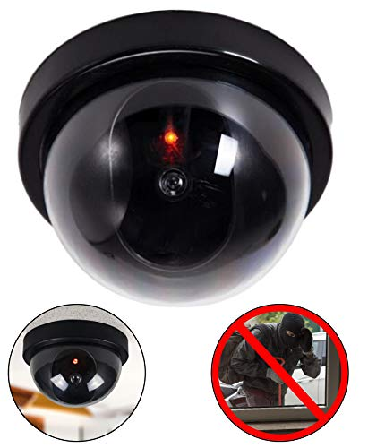 Dummy camera dummy met lens videobewaking goederen beveiliging bewakingscamera fake camera met rood LED-licht bedrieglijk echt voor muur plafond