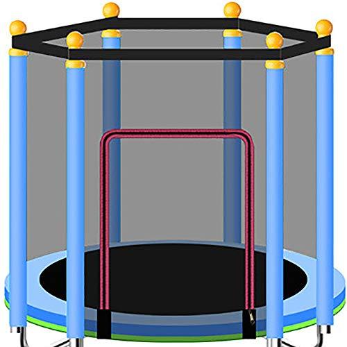 BXYY Indoor of Outdoor Trampoline Oefening - 1.2M vouwtrampoline, met een draagvermogen van 250Kg, ideaal voor ouder-kind sporten, energie vrijgeven voor kinderen 1.4m Blauw