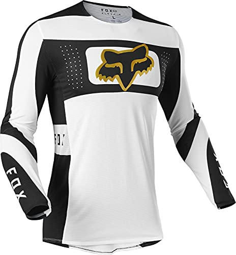 Fox Racing Herren Flexair MIRER Motocross Jersey Trikot, weiß/schwarz, Large