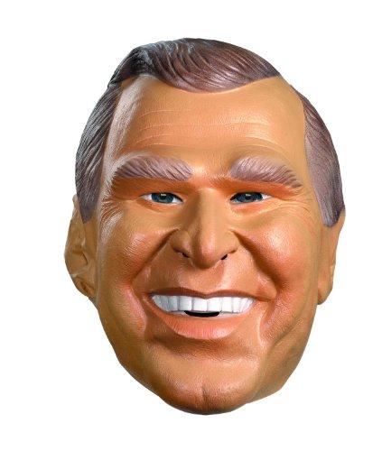 Disguise mens G.w. Bush Vinyl Costume Mask ,Beige/Brown ,Adult