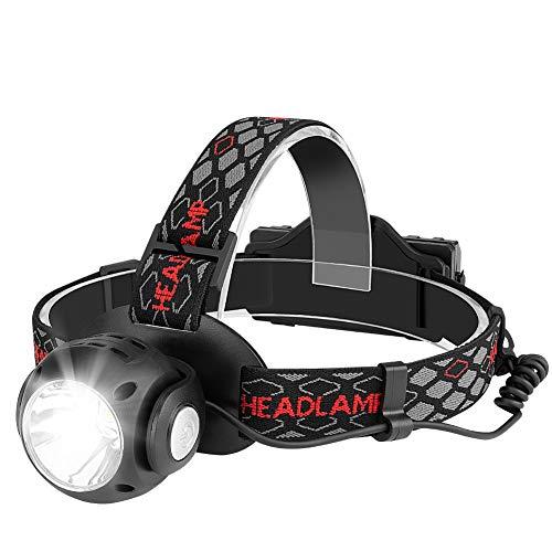 Winzwon Stirnlampe, USB Wiederaufladbare LED Stirnlampe Kopflampe, Wasserdicht Super Hell stirnlampen Perfekt fürs Laufen, Joggen, Angeln, Campen