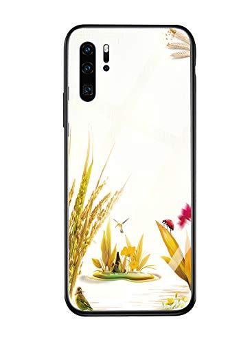 Suhctup Compatible con Huawei P20 Lite 2019 / Nova 5i Funda Protectora de Cristal Templado 9H + Marco Parachoques de TPU Silicona Suave absorción de Golpes de 360 Grados protección Paddy