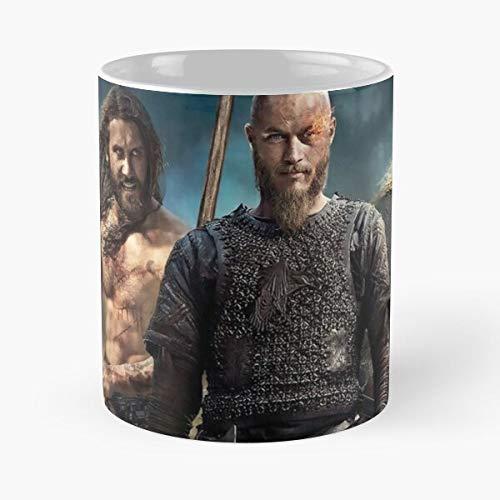Katheryn Lothbrok Vikings Travis Fimmel Ragnar Lager Series Best 11oz taza de café de cerámica Personalizar