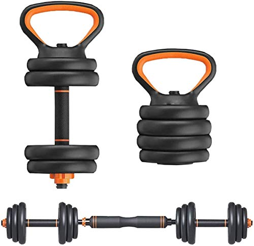 Elevens 66 Lbs Adjustable Dumbbells Barbell 2 in 1 with Connector,Used as Barbell Kettlebell and...