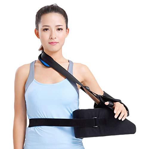 HKKSDM Single Schultergurt Armauflage korrekte Lage Bandage Brace Schulterluxation Fest Humerusfraktur Schulungs-Pads,Schwarz,L