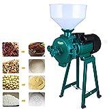 NAOKEY Molino de Grano Eléctrico 220V Trituradora de Grano con Molinillo Eléctrico Seco Molinillo de Arroz Mojado Grano Alimentación de Trigo Cereal Café Seco Molinillo Eléctrico(Color:Verde)