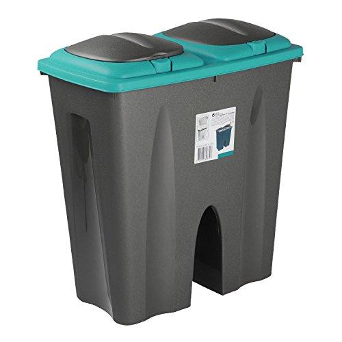 Duo Double Sided Recycling Bin (Blue)