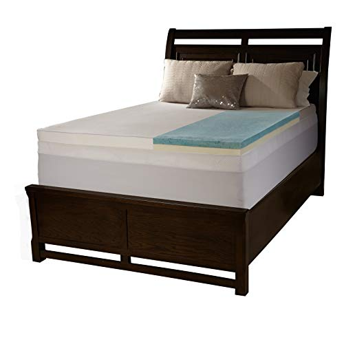 Simmons Beautyrest Comforpedic Loft from Beautyrest 3-inch Flat Select Gel Memory Foam Mattress Topper with Cover King