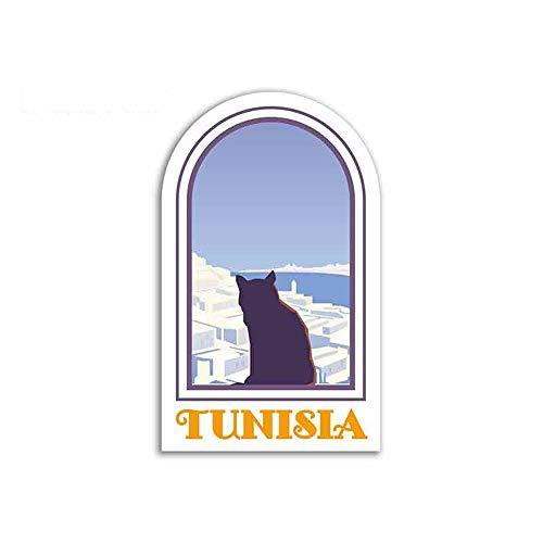 13cm x 8cm Pegatinas divertidas para autos Creativas para Túnez Assessoires para autos Adecuados para cualquier superficie limpia lisa y plana