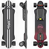 """Teamgee H20 39"""" Electric Skateboard with Remote Long Boards Skateboard Designed for Teens and Adults, 26PMH Top Speed, Hub Motors 1200W, 18Miles Range, 4 Speed Adjustment (7.5Ah)"""