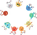 Orange Dolly Solar System Galaxy Party Supplies I Outer Space Garland Planets for Kids I Space Theme Birthday Party Decorations I Astronomy Themed Baby Shower Alien Planet Wall Decor I Homeschool Room Wall Decals Astronaut Inspirational Hanging Decoration Favors Art Rocket Ship Garlands