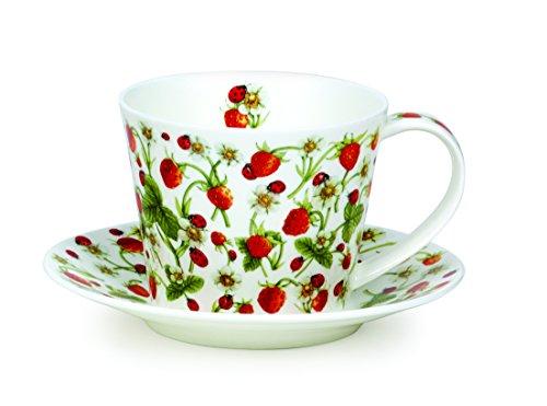 DUNOON Tasse & Untertasse Strawberry - 0,35l